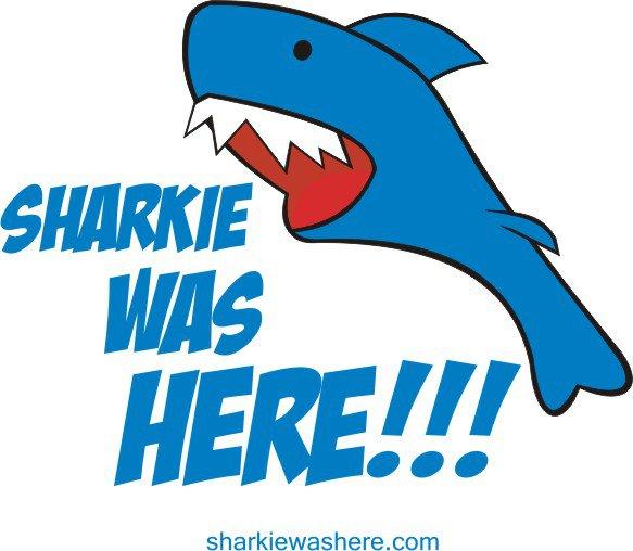 Sharkie was here