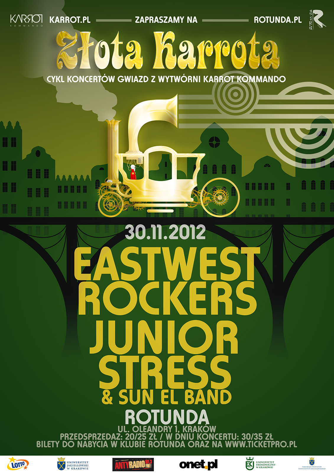 Eastwest Rockers oraz Junior Stress & Sun El Band w Rotundzie