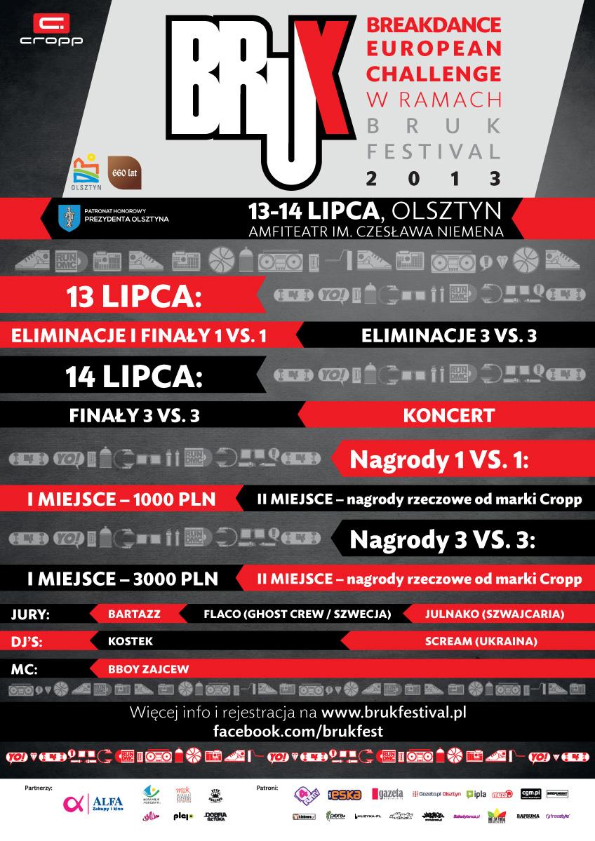Breakdance European Challenge w ramach Bruk Festivalu 2013
