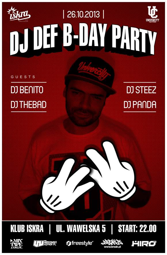 DJ DEF B-DAY PARTY @ ISKRA