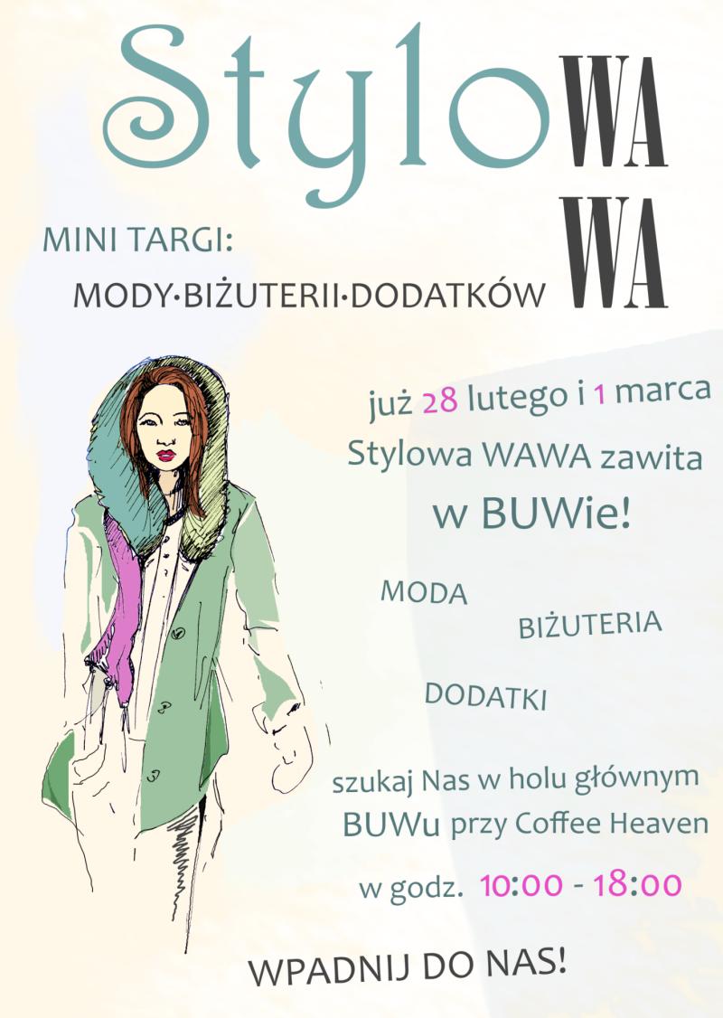 Stylowa WAWA w BUWie! - Mini Targi mody, biżuterii i dodatków.