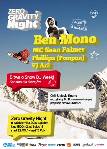 Zero Gravity Night feat. Ben Mono / Bitwa o Snow DJ Week