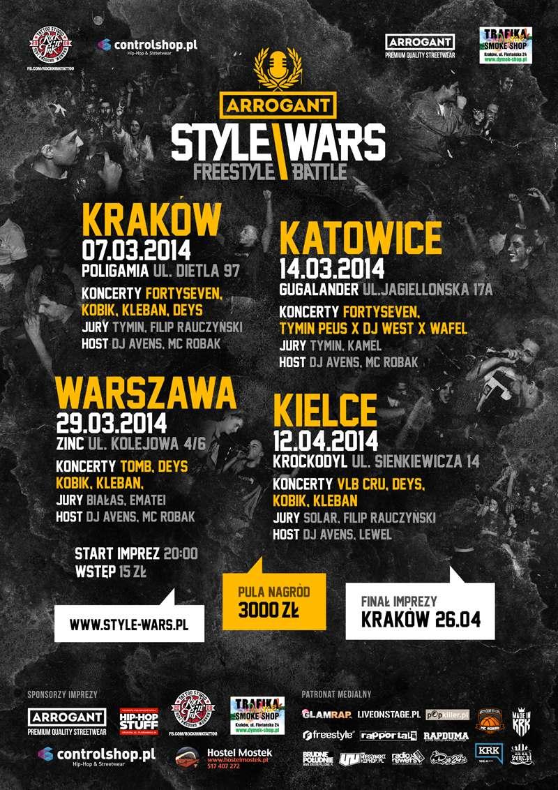 Eliminacje Arrogant Style Wars Freestyle Battle - Kraków