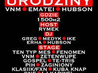 2.02 Warszawa: URODZINY VNM'A, EMATEI'A I DJ. HUBSONA