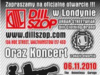 OTWARCIE SKLEPU DIILSZOP LONDON + KONCERT HG