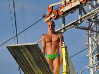 Krzysztof Kolanus uczestnik Red Bull Cliff Diving we Francji