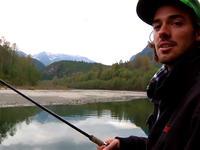 Simon Chamberlane na rybach